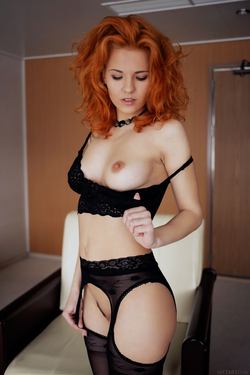 Zarina A Fluffy Redhead Beauty - pics 02