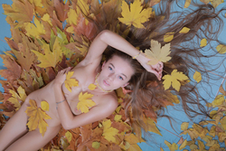 Milena D Dry Leaves on the Ground - pics 01