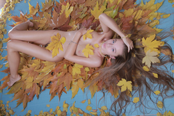 Milena D Dry Leaves on the Ground - pics 02