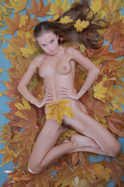 Milena D Dry Leaves on the Ground - pics 05