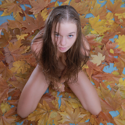 Milena D Dry Leaves on the Ground - pics 14