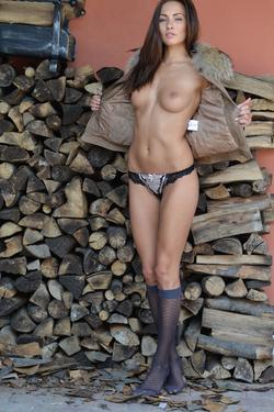 Michaela Isizzu Spreads Sexy Legs - pics 02