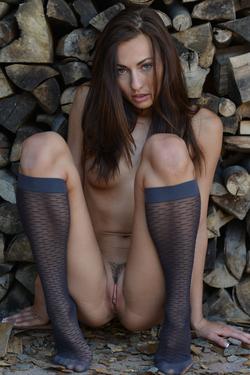 Michaela Isizzu Spreads Sexy Legs - pics 12