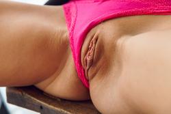 Skinny Babe Kalisy in Black Skirt - pics 07