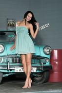 Dark Angel with an Oldtimer Car - pics 01