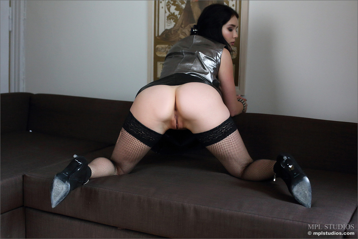 Cute Malena F Leather and Fishnet - picture 03