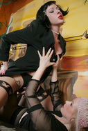 Horny Lesbians Licking in Rare Tights - pics 05