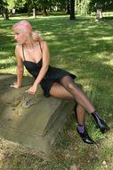 Sabrina Velvet Pantyhose Fetish - pics 00