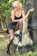 Sabrina Velvet Pantyhose Fetish - pics 06