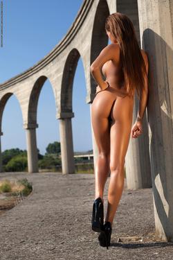 Busty Ebony Sexbomb Tyrene Nude - pics 15