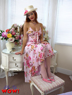 Gorgeous Pinup Girl Pink Satin - pics 02