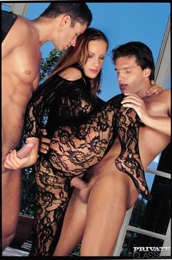 Dream Babe Fucked by 2 Hard Cocks - pics 06