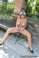 Nice Natural Big Boobs in Public - pics 12