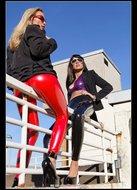 Milfs Ultra Tight Latex Leggins - pics 05