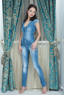 Curly Babe Sexy Full Body Jeans - pics 01
