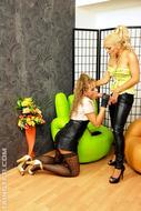 Hot Babes Squirting Fake Spunk - pics 02