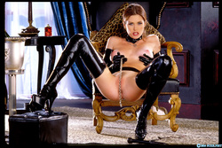 Pornstar Aimee Sweet Black Latex - pics 11