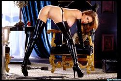 Pornstar Aimee Sweet Black Latex - pics 14
