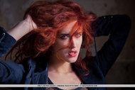 Redhead Whore Black Leather - pics 00