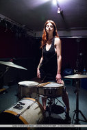 Busty Redhead Sexy Drummer - pics 00