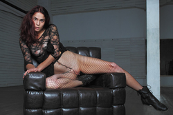 Busty Callista in Lace and Fishnet - pics 05