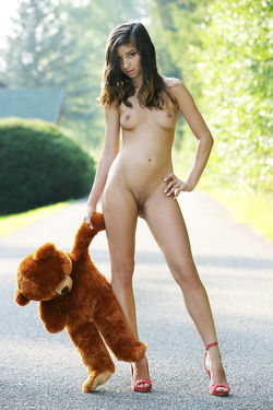 Sweet Teen Nika Loves her Teddy Bear - pics 03