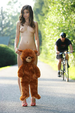 Sweet Teen Nika Loves her Teddy Bear - pics 04