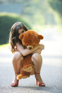 Sweet Teen Nika Loves her Teddy Bear - pics 05