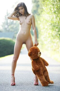 Sweet Teen Nika Loves her Teddy Bear - pics 07