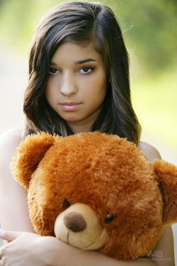 Sweet Teen Nika Loves her Teddy Bear - pics 11