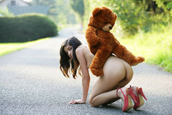 Sweet Teen Nika Loves her Teddy Bear - pics 12