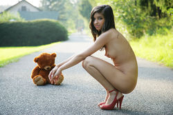 Sweet Teen Nika Loves her Teddy Bear - pics 13