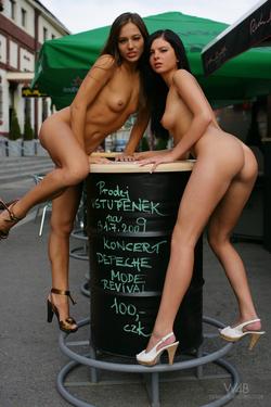 Dominika C and Monicca Public Nudes - pics 01