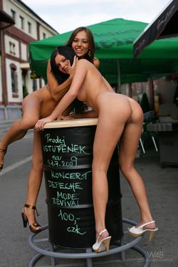 Dominika C and Monicca Public Nudes - pics 02