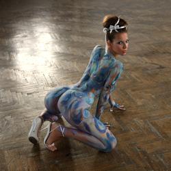 Busty Lizzie Ryan in Body Paint - pics 07