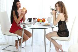 Vanessa and Lucy Li Sexy Lesbians - pics 00