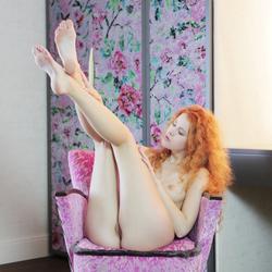 Fluffy Redhead Heidi R Slick Pussy - pics 16