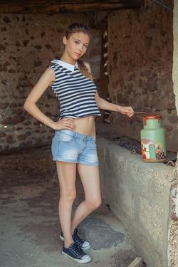 Jeans Babe Mila Azul in Body Milk - pics 00