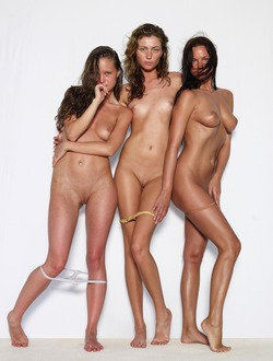 Three Sexy Babes Naked Formation - pics 04