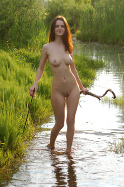Nadin A Sexy Archer by the River - pics 05