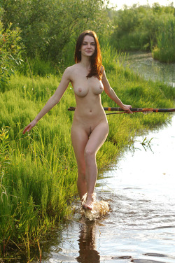 Nadin A Sexy Archer by the River - pics 08