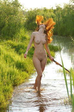 Nadin A Sexy Archer by the River - pics 12