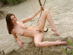 Nadin A Sexy Archer by the River - pics 16