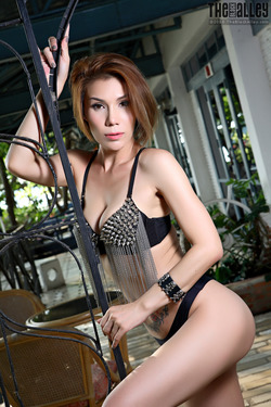 Tattooed Thai Model Janya Stripping - pics 00