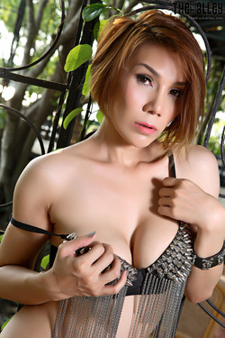 Tattooed Thai Model Janya Stripping - pics 05