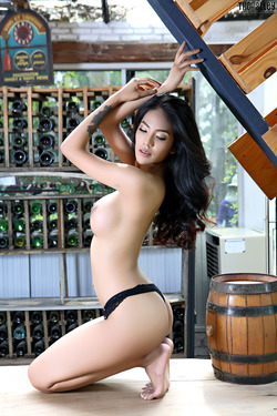 Beautiful Thai Babe Arya Stripping - pics 10