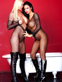 Angelina Valentine and Brooke Banner
