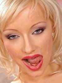 Blonde Bitch Loves Facial Cumshot