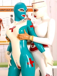 Sexy Latex Babes Go Wild in Clinic