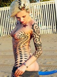Awesome Tattooed Amateur Girl